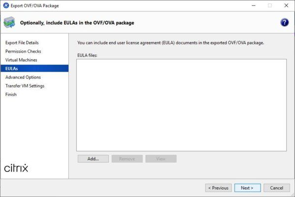 No need to include a EULA document