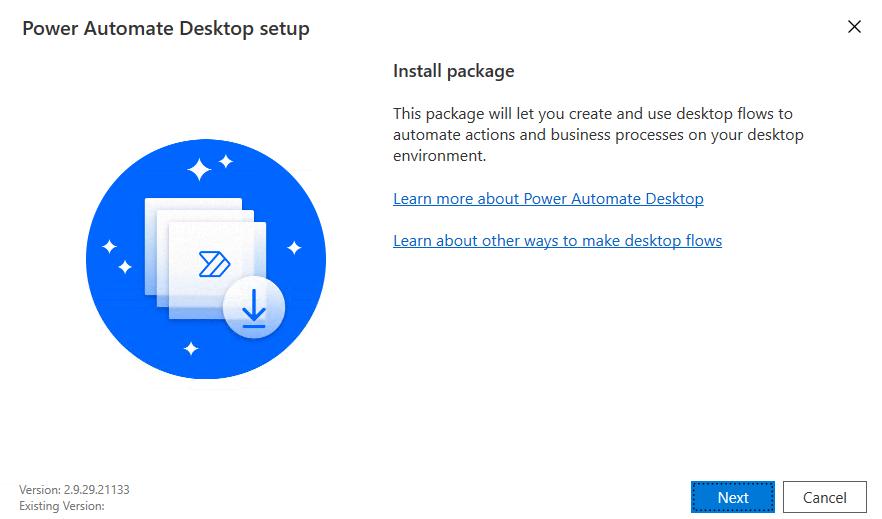 The Microsoft Power Automate desktop