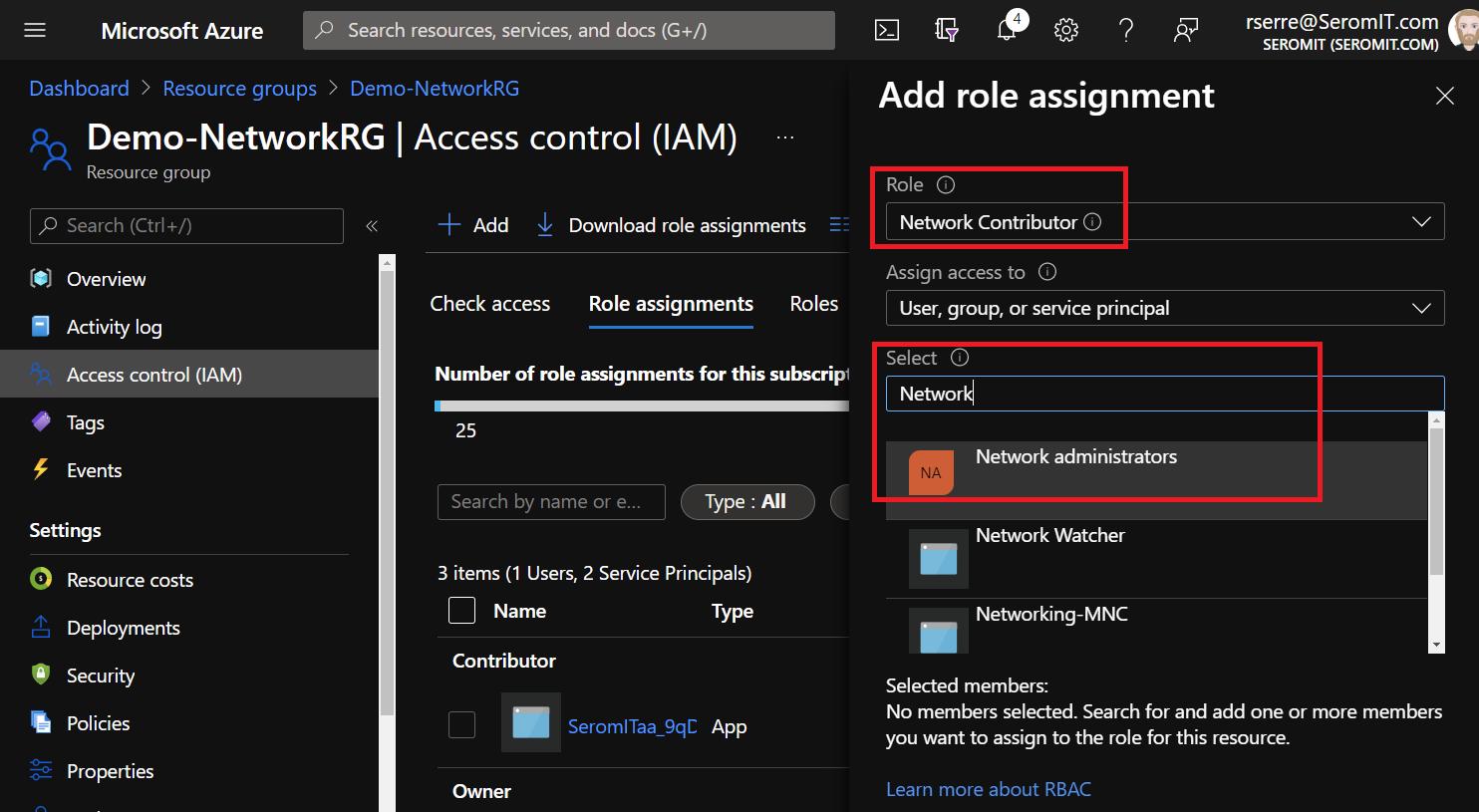 Microsoft Azure - Network Contributor
