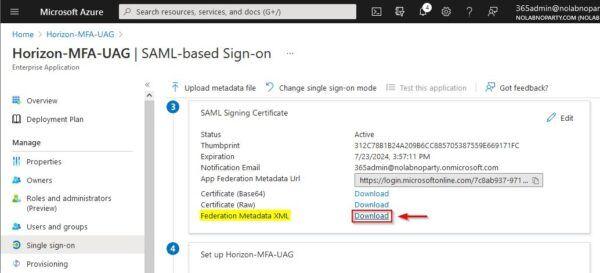SAML Signing Certificate