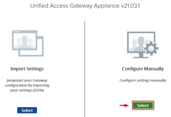 Configure Manually settings