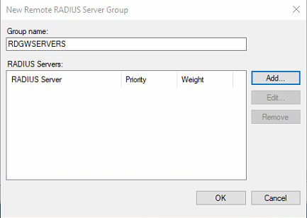Figure 7: Create the RDGWSERVERS group