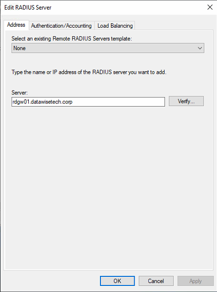 Figure 8: Adding RDGW01 to the RGGWSERVERS group