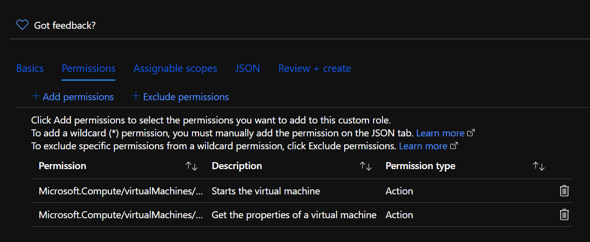 Add two kinds of permissions