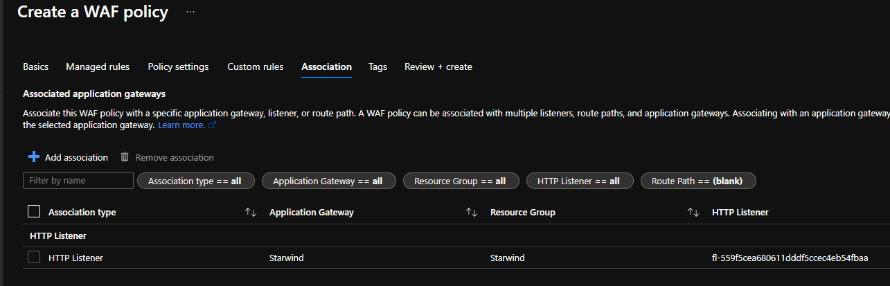 Associate it with listener that hosts the website