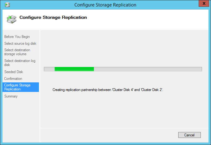 Configure Storage Replication