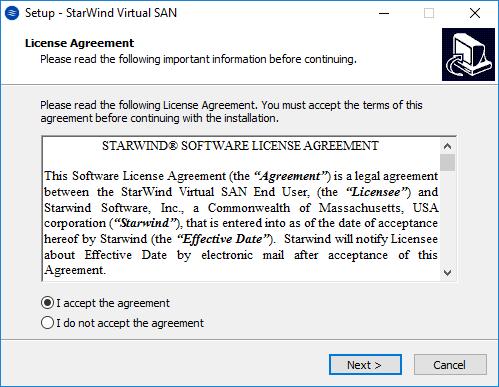 StarWind VSAN Help : Installing StarWind VSAN