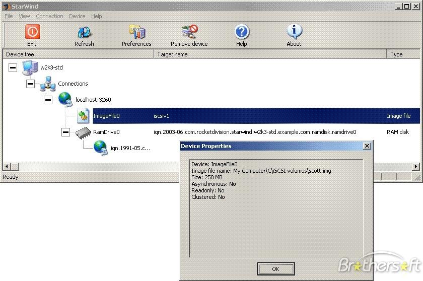 StarWind Server screenshot