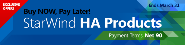 Exclusive Offer: Buy StarWind Now and Pay Later!