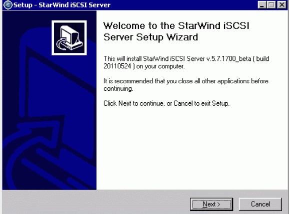 StarWind iSCSI SAN & NAS: Installing StarWind on Hyper V Server 2008 R2