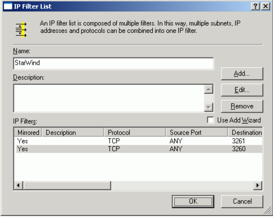 StarWind iSCSI SAN & NAS: IP Security policy configuration