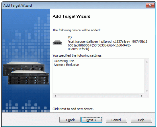 StarWind iSCSI SAN & NAS: Tape Drives using StarWind and Veritas Backup Exec