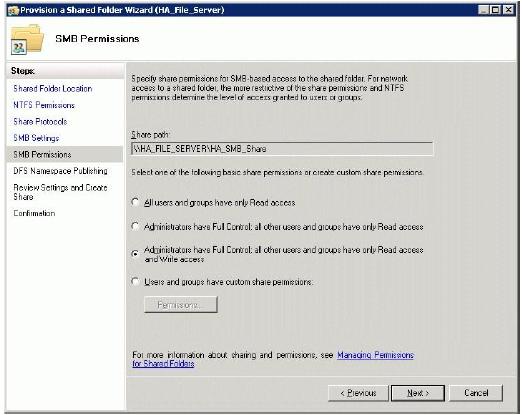 StarWind iSCSI SAN & NAS: Configuring HA File Server for SMB NAS
