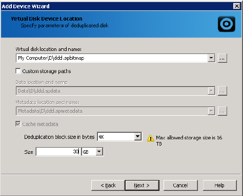 StarWind iSCSI SAN: Configuring Global Deduplication