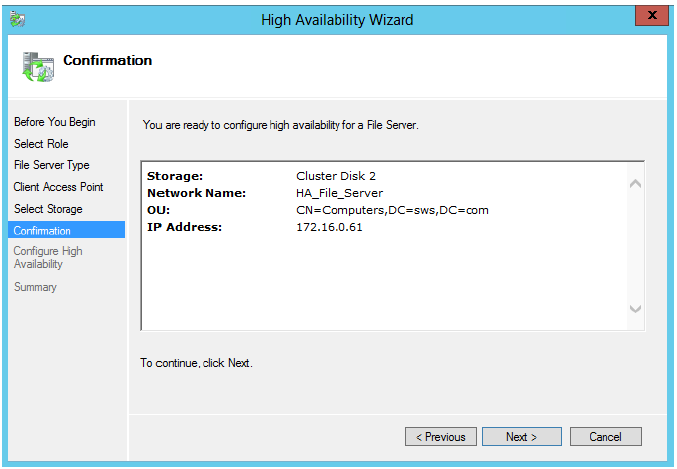 StarWind iSCSI SAN & NAS: Configuring HA File Server on