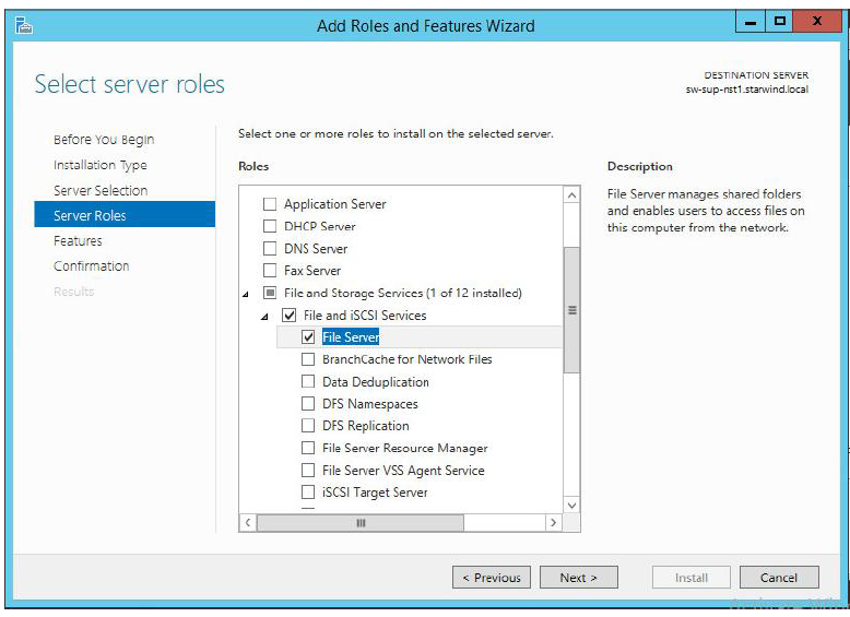 StarWind Virtual SAN Compute and Storage Separated 2 nodes with Scale Out File Servers