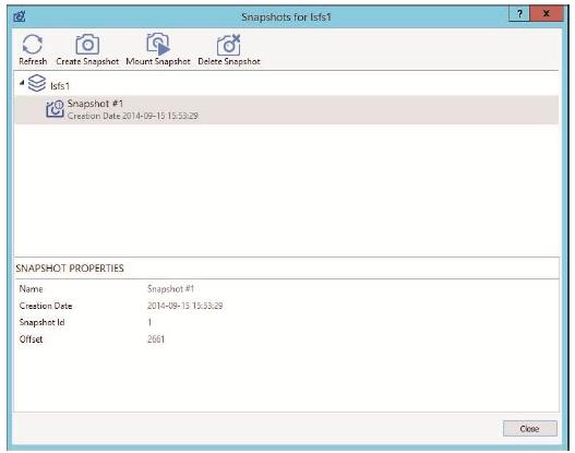 StarWind Virtual SAN: Working with StarWind LSFS Snapshots