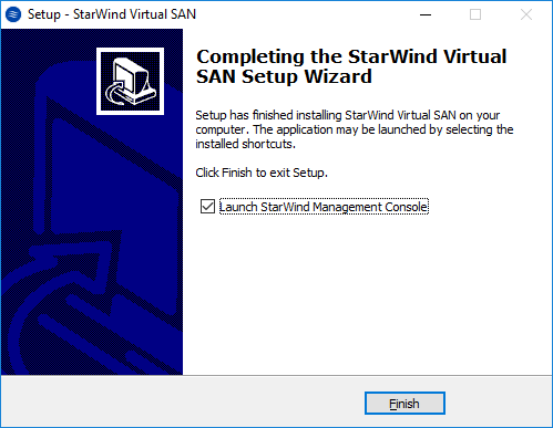 StarWind Virtual SAN Quick Start Guide. Installation