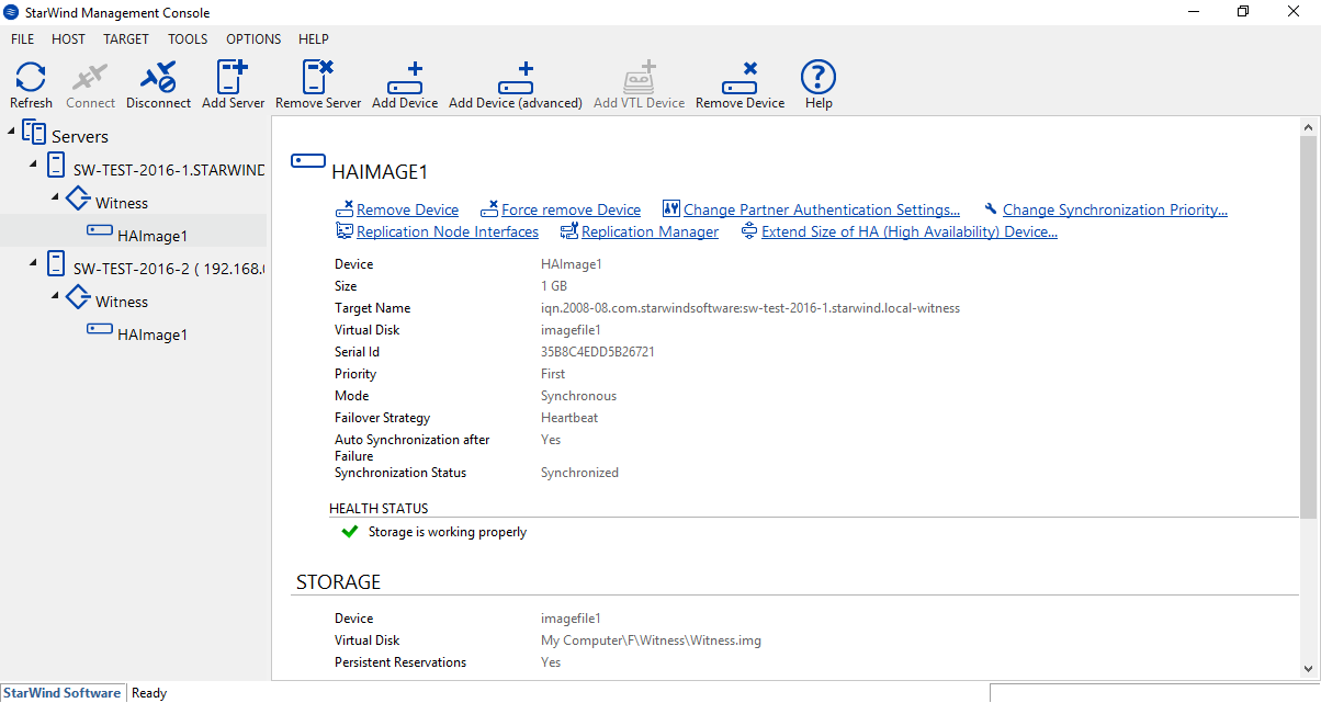 Kurzanleitung: HA Gerät Erstellen mit StarWind Virtual SAN<sup>®</sup>