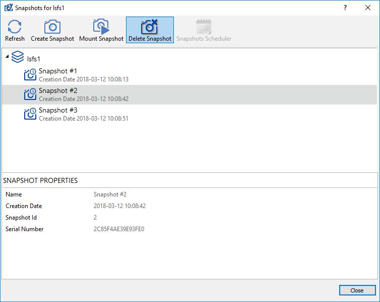 StarWind Virtual SAN Working with StarWind LSFS Snapshots