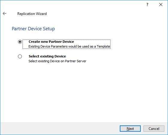 Create new Partner Device