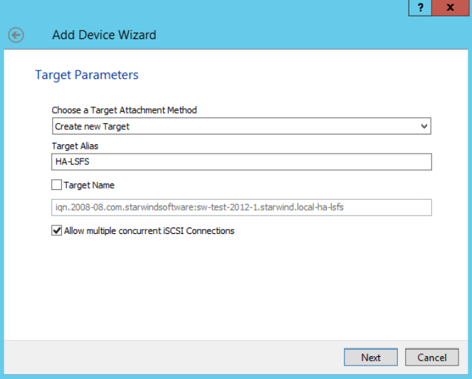 Creating HA LSFS Device with StarWind Virtual SAN