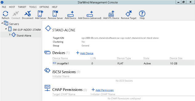 StarWind Virtual SAN® Creating Stand Alone Image File device