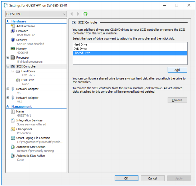 VHD Set feature in Microsoft Windows Server 2016