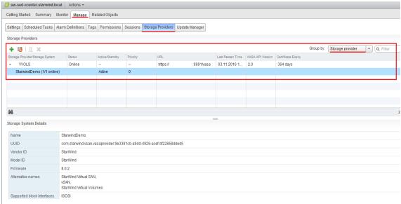 StarWind Virtual SAN® Creating VVols HA Datastore with StarWind Cluster