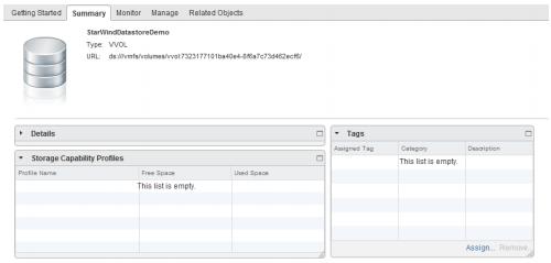 StarWind Virtual SAN Creating VVols HA Datastore with StarWind Cluster