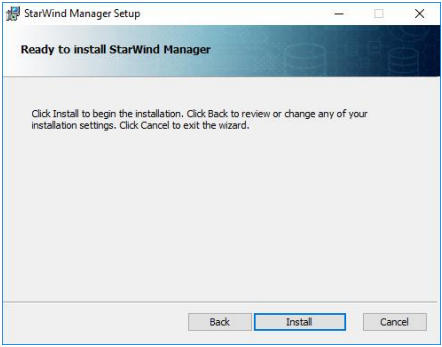 StarWind Manager Installation and Configuration Guidance