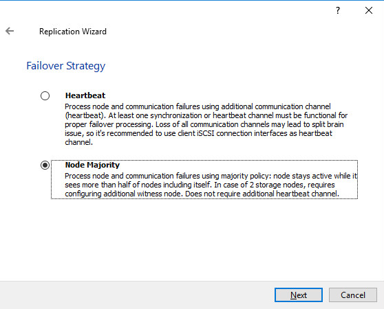 Creating Highly Available device using Node Majority Failover Strategy