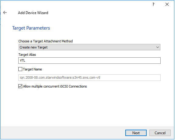 Creating Virtual Tape Library device in StarWind Virtual SAN environment