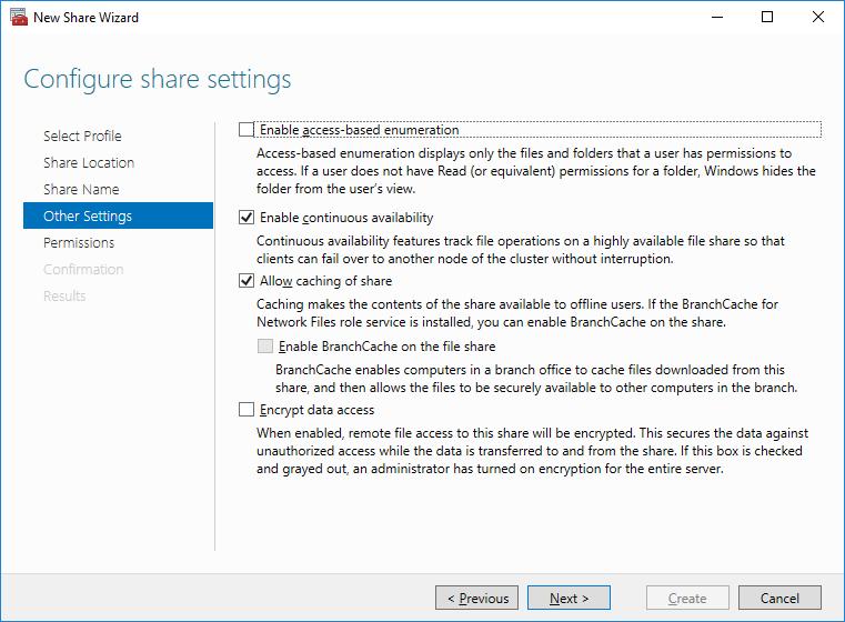Configuring HA SMB File Server in Windows Server 2016