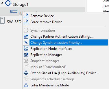 Change Synchronization Priority