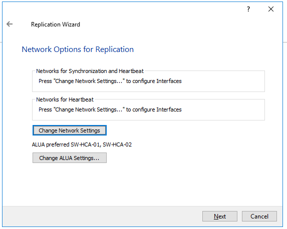 Change Network Settings