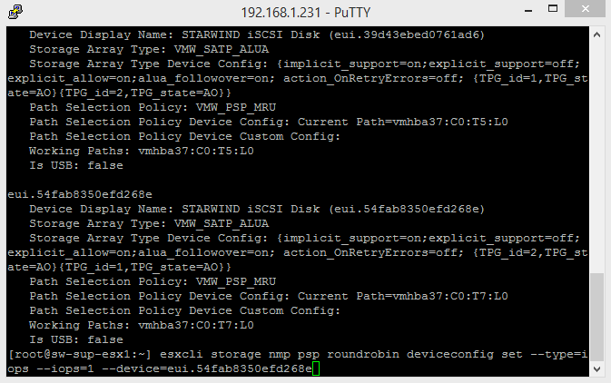 Paste StarWind device UID at the end of the cmdlet