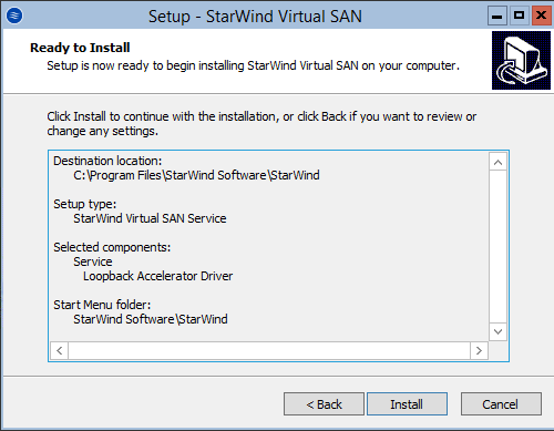 StarWind Virtual SAN<sup>®</sup> Hyperconverged 2 Node Scenario with Hyper V Server 2016