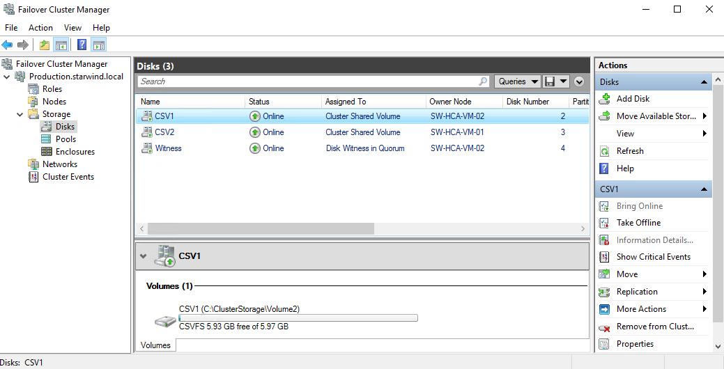 StarWind Virtual SAN® Hyperconverged 3 Node Scenario with Hyper V Cluster