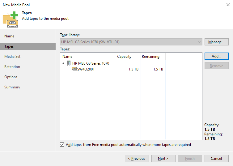 8 - Adding StarWind VTL Device to Veeam B&R Tape Infrastructure