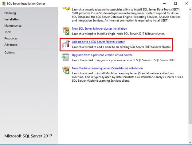 SQL Server 2017 FCI on Windows Server 2016 with StarWind