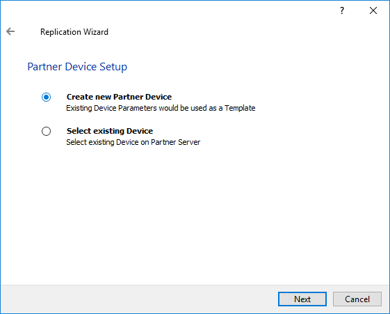 Create new Partner Device
