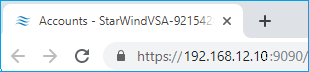 IP address of the VM
