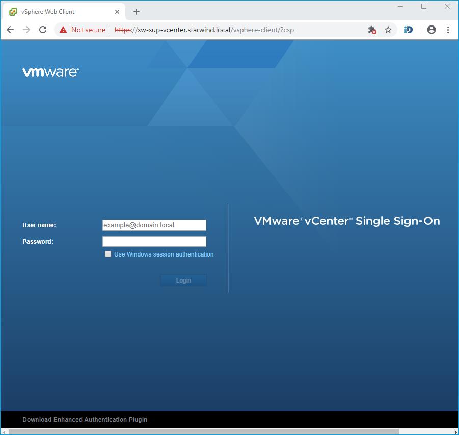 vCenter via vSphere Client
