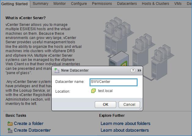 Create new datacenter