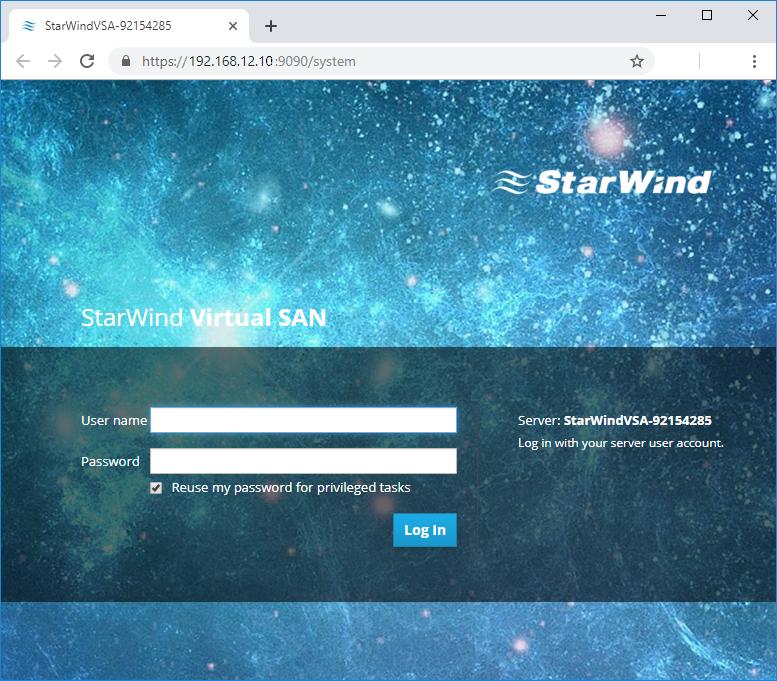 StarWind Virtual SAN VM