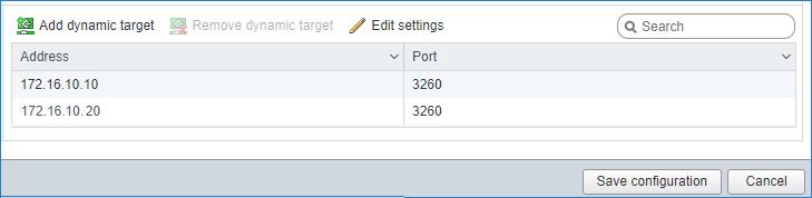 IP address of the second StarWind node