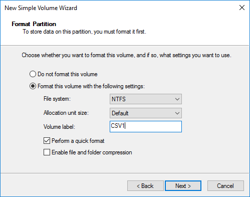 NTFS volume