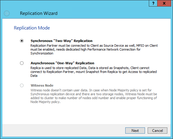 synchronous replication Windows Server 2012