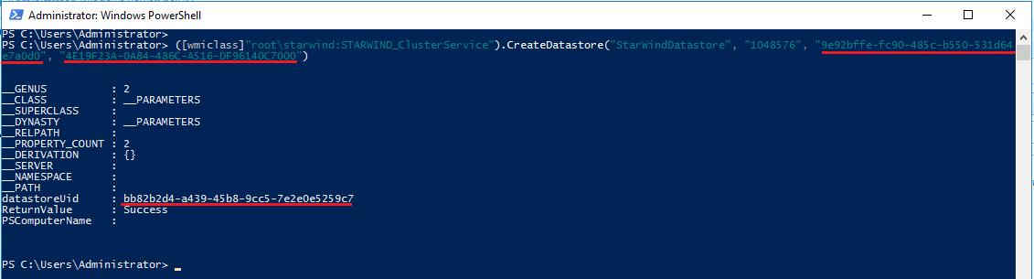 Create Datastore
